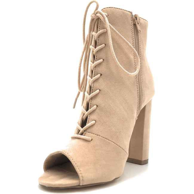 Olivia Jaymes Sway Camel Suede Color Heels Shoes for Women