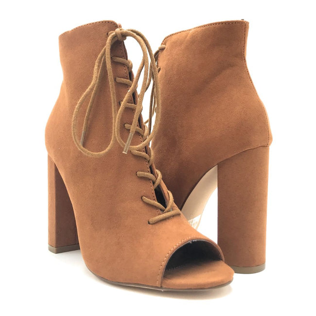 Olivia Jaymes Sway Tan Suede Color Heels Shoes for Women
