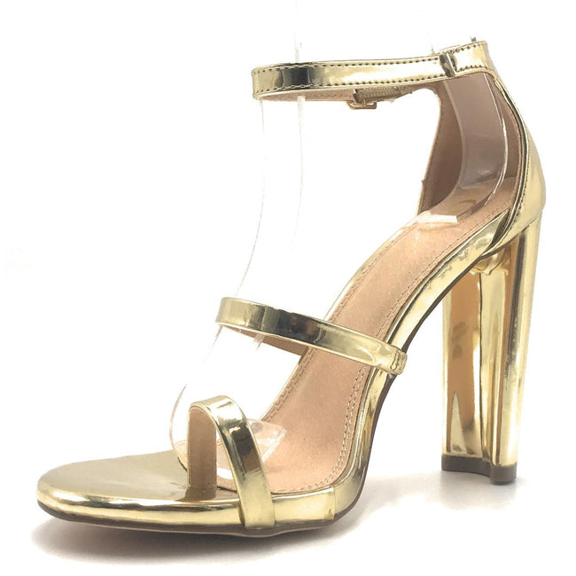 Olivia Jaymes Tahiti Gold Color Heels Shoes for Women