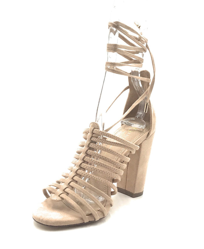 Olivia Jaymes Trinity Camel Color Heels Shoes for Women