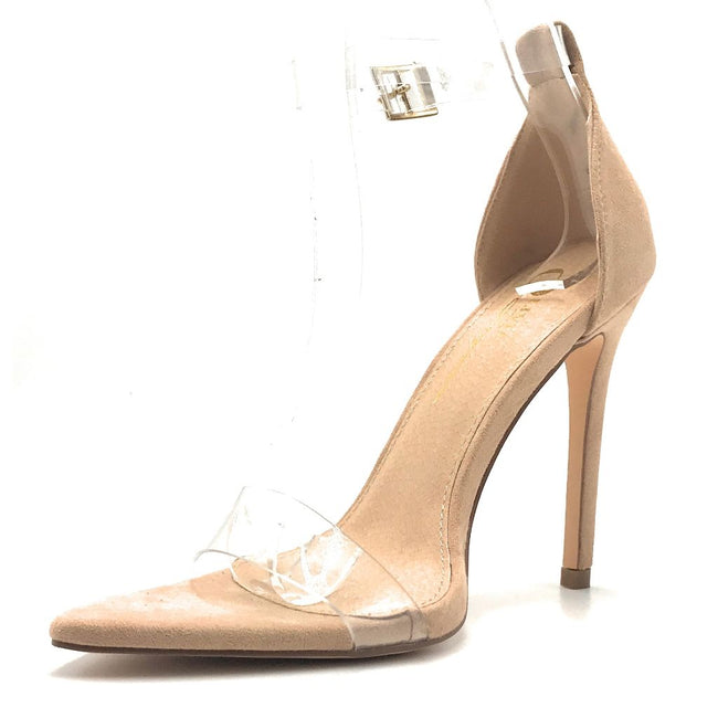 Olivia Jaymes Vivian Camel suede TPU Color Heels Shoes for Women