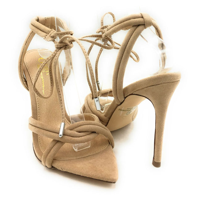 Olivia Jaymes Yukon Camel Suede Color Heels Shoes for Women