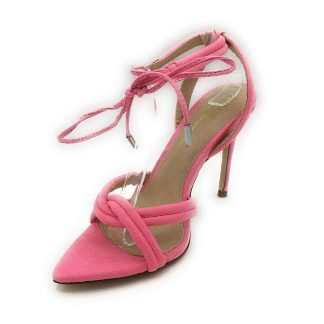 Olivia Jaymes Yukon Hot Pink Suede Color Heels Shoes for Women
