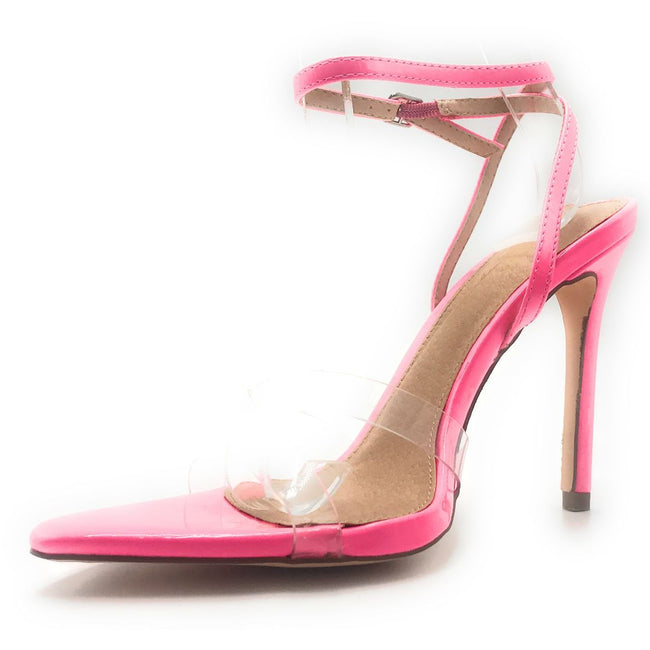 Olivia Jaymes Yuri Hot Fuchsia Color Heels Shoes for Women