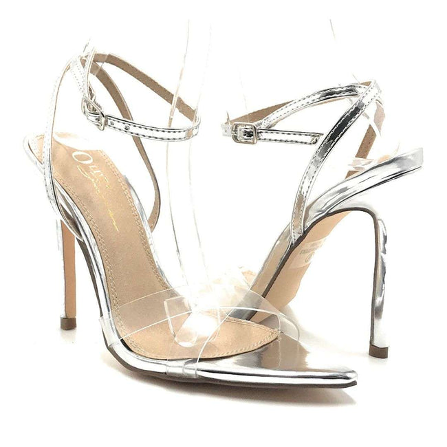 Olivia Jaymes Yuri Silver Pat Color Heels Shoes for Women