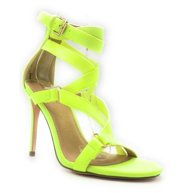 Olivia Jaymes Zion N.Yellow Lycra Color Heels Shoes for Women