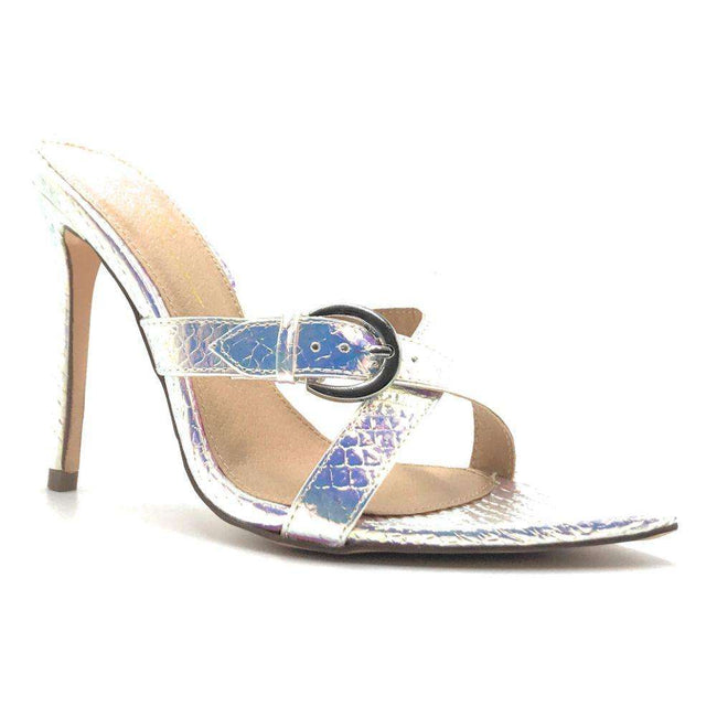 Olivia Stika Hologram Pu Color Heels Shoes for Women