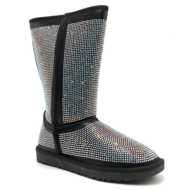 Pazzle Angel Black Color Boots Right Side View, Women Shoes