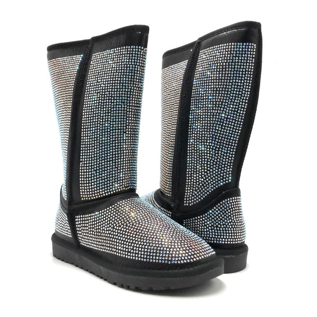 Pazzle Angel Black Color Boots Both Shoes together, Women Shoes