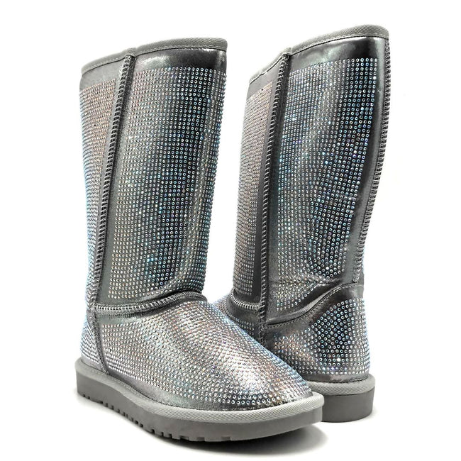 Pazzle Angel Silver Color Boots Both Shoes together, Women Shoes