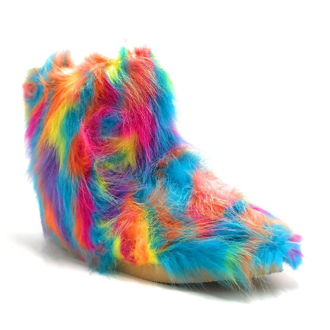 Pazzle Mickey-1 Rainbow Color Boots Right Side View, Women Shoes