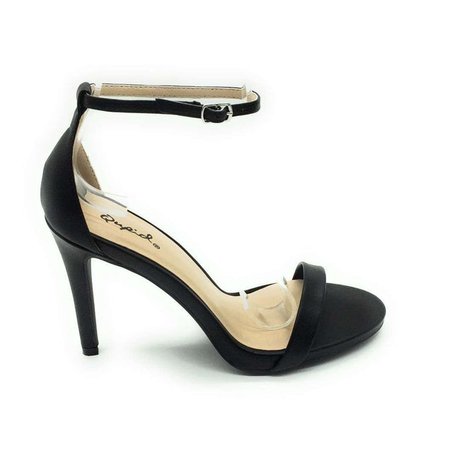 QUPID GRAMMY-01 Women Shoes  Color BLACK PU Shoes for Women