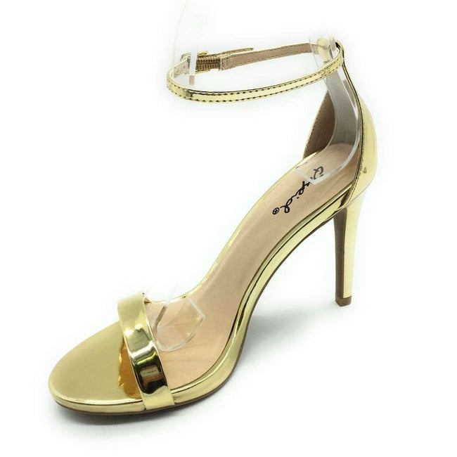 QUPID GRAMMY-01 Women Shoes  Color Gold Pat Shoes for Women