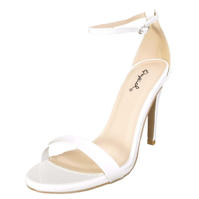 QUPID GRAMMY-01 Women Shoes  Color White Patent Shoes for Women