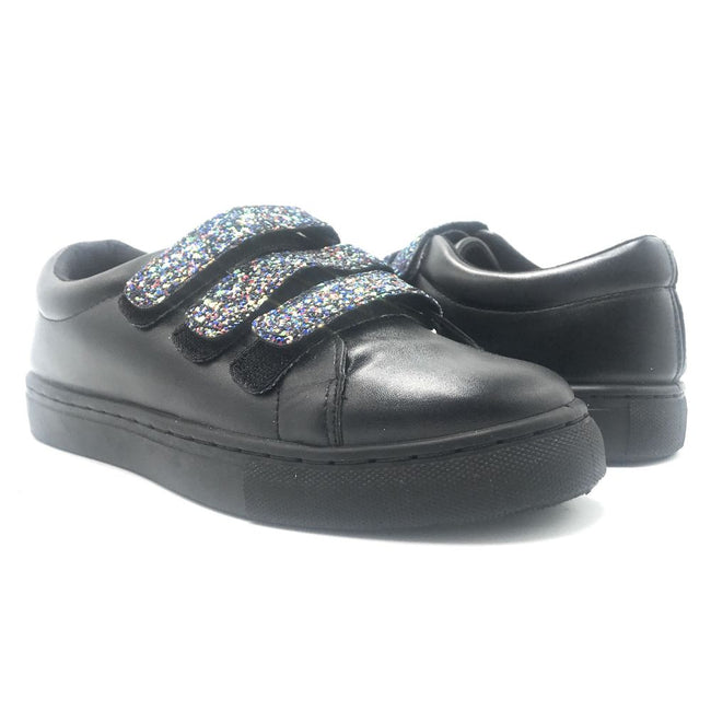 Qupid Moira-06A Black Color Fashion Sneaker Shoes for Women