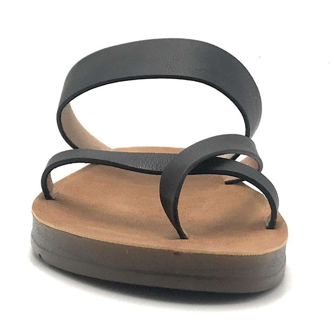 Refresh Ashley-09 Black Color Flat-Sandals Shoes for Women
