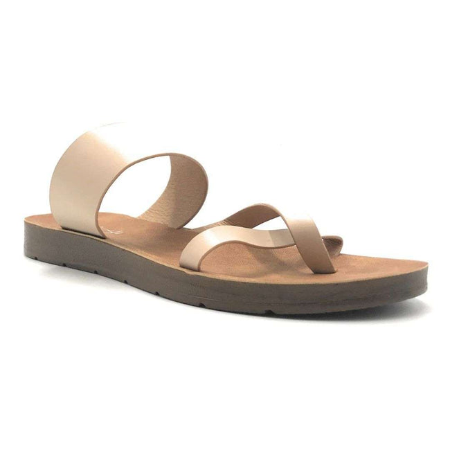 Refresh Ashley-09 Nude Color Flat-Sandals Shoes for Women