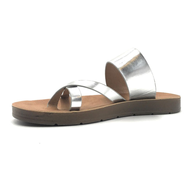 Refresh Ashley-09 Silver Color Flat-Sandals Shoes for Women