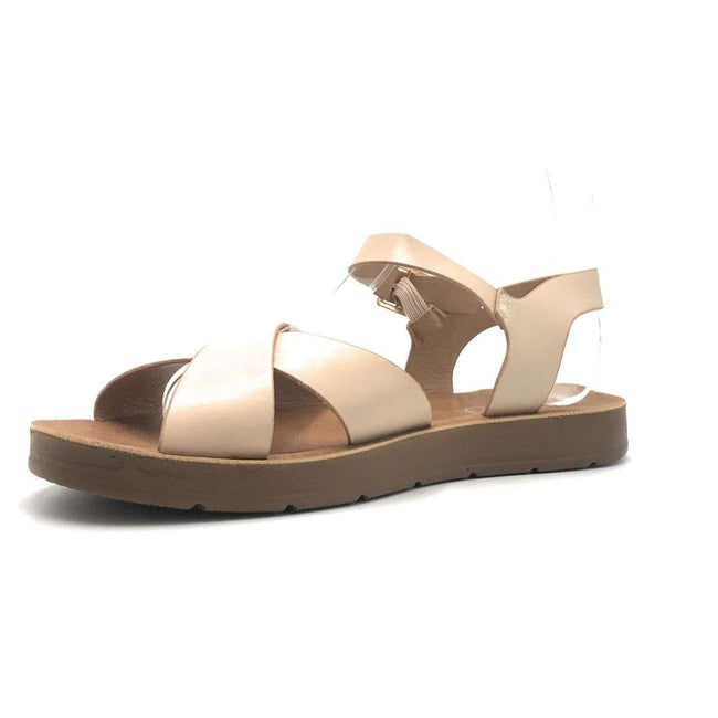 Refresh Ashley-12 Nude Color Flat-Sandals Shoes for Women