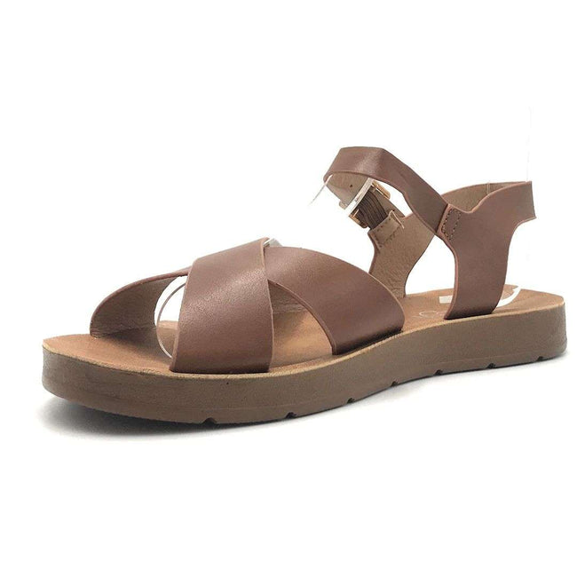 Refresh Ashley-12 Tan Color Flat-Sandals Shoes for Women