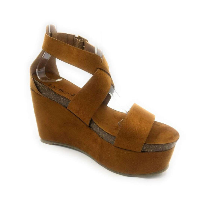 Refresh Gracie-02 Tan Color Flat-Sandals Shoes for Women