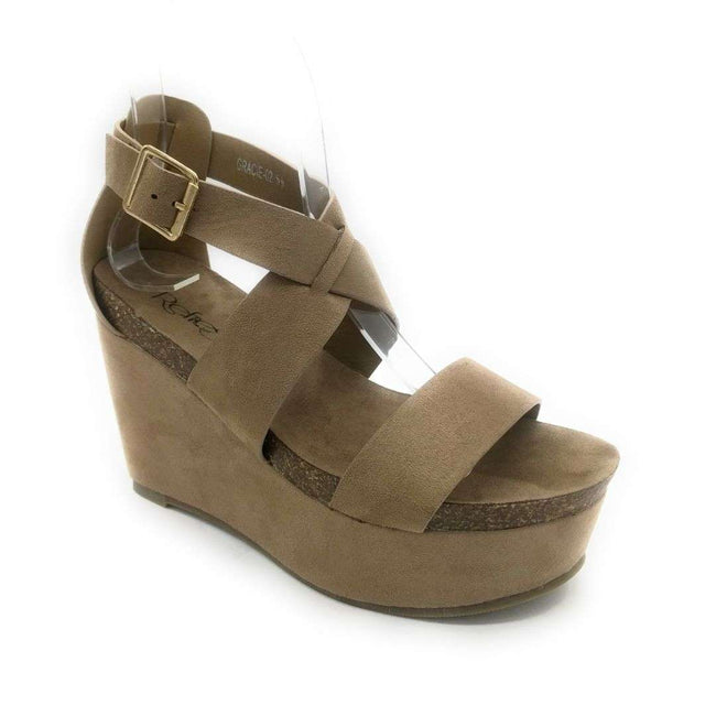 Refresh Mara-29 Taupe Color Flat-Sandals Shoes for Women