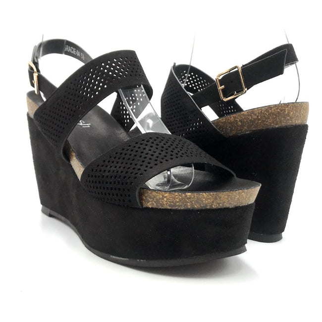 Refresh Gracie-04 Black Color Heels Both Shoes together, Women Shoes