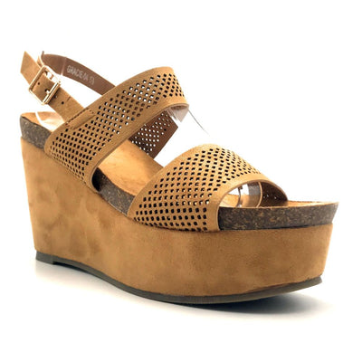 Refresh Gracie-04 Camel Color Heels Right Side View, Women Shoes