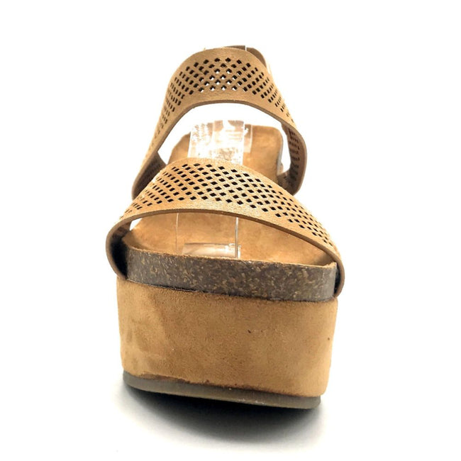 Refresh Gracie-04 Camel Color Heels Front View, Women Shoes