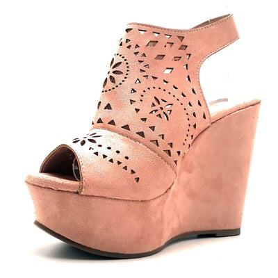 Refresh Kama-01 Mauve Color Wedge Left Side view, Women Shoes