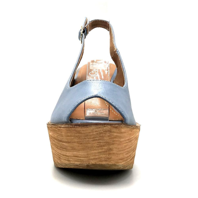 Refresh Kite-01 Blue Color Wedge Front View, Women Shoes