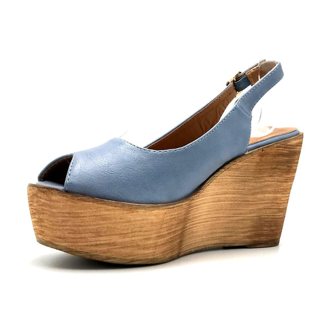 Refresh Kite-01 Blue Color Wedge Left Side view, Women Shoes
