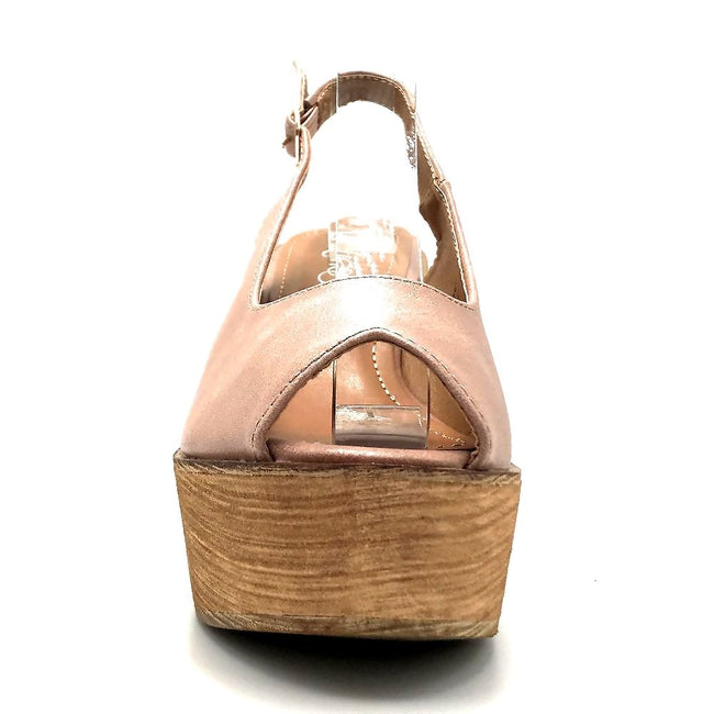 Refresh Kite-01 Mauve Color Wedge Front View, Women Shoes