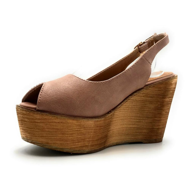 Refresh Kite-01 Mauve Color Wedge Left Side view, Women Shoes