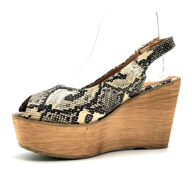 Refresh Kite-01 Snake Color Wedge Left Side view, Women Shoes