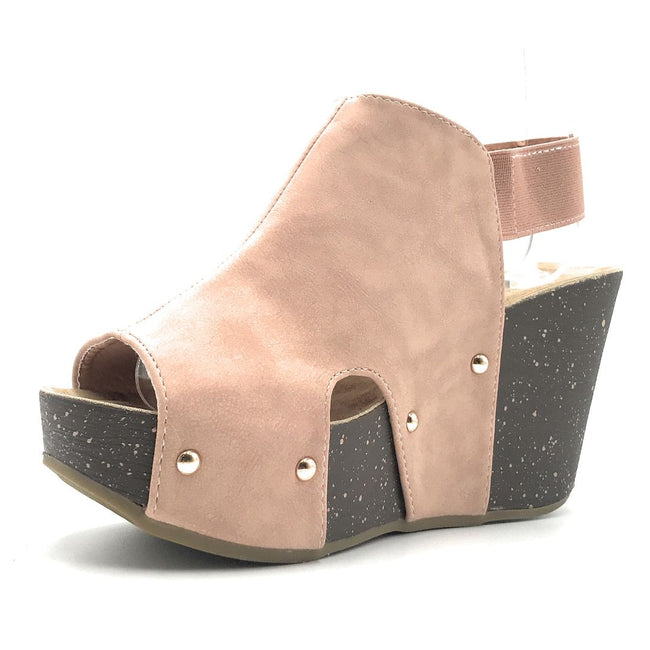 Refresh Mara-26 Mauve Color Wedge Shoes for Women
