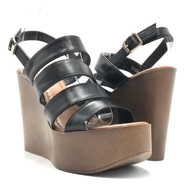 Refresh Rebeca-02 Black Color Flat-Sandals Shoes for Women