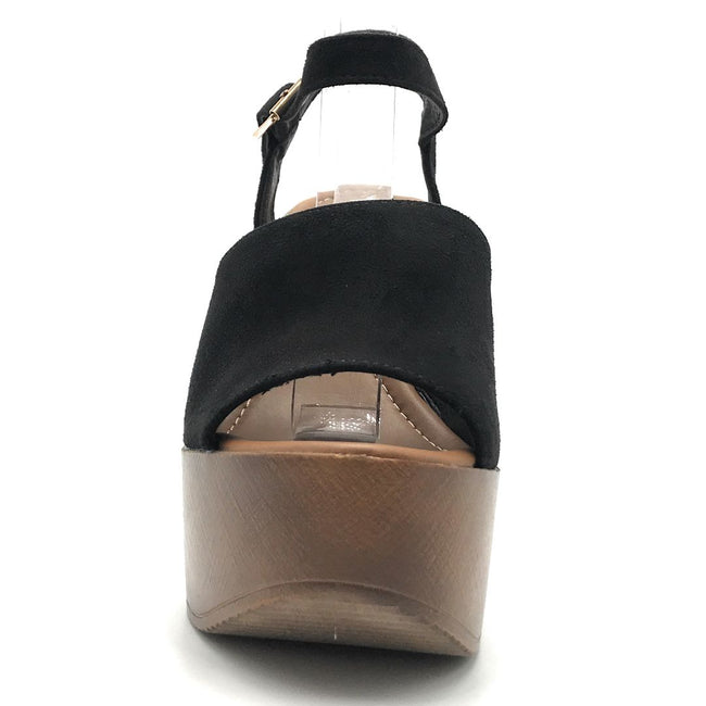 Refresh Rebeca-03 Black Color Wedge Shoes for Women