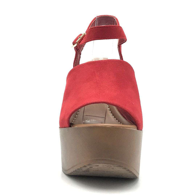 Refresh Rebeca-03 Red Color Wedge Shoes for Women