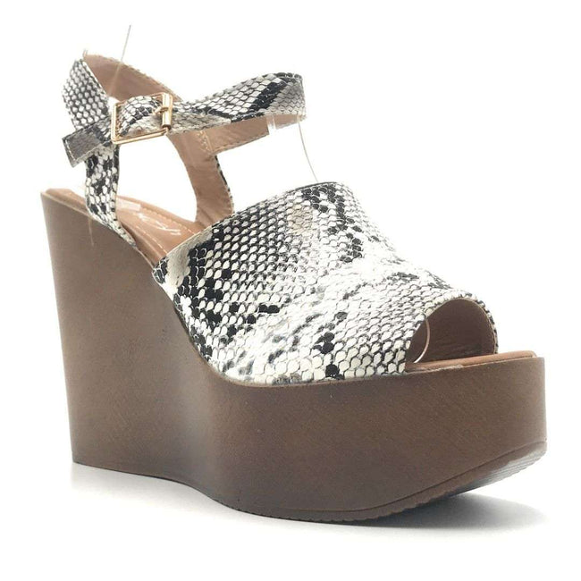 Refresh Rebeca-03 Snake Color Wedge Shoes for Women