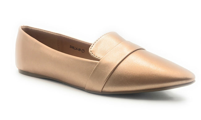 Refresh Shilla-06 Rose Gold Color Ballerina Shoes for Women