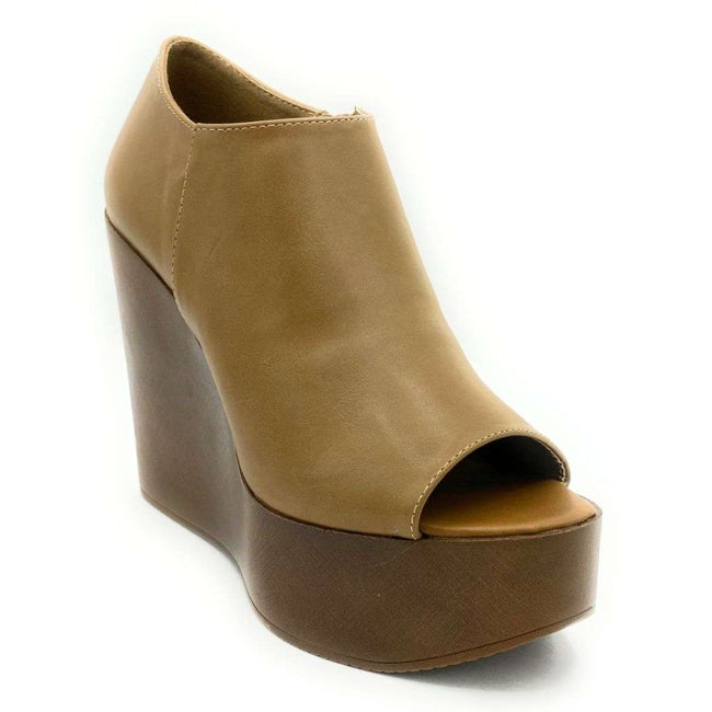 Refresh Vicki-01 Taupe Color Wedge Shoes for Women