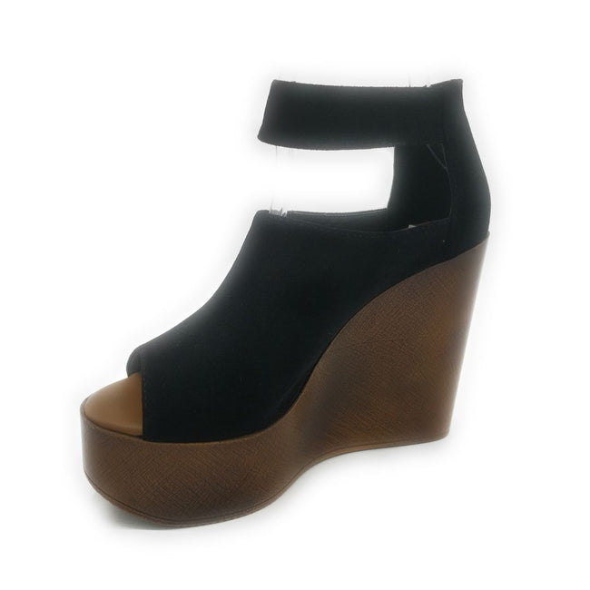 Refresh Vicki-02 Balck Color Wedge Shoes for Women