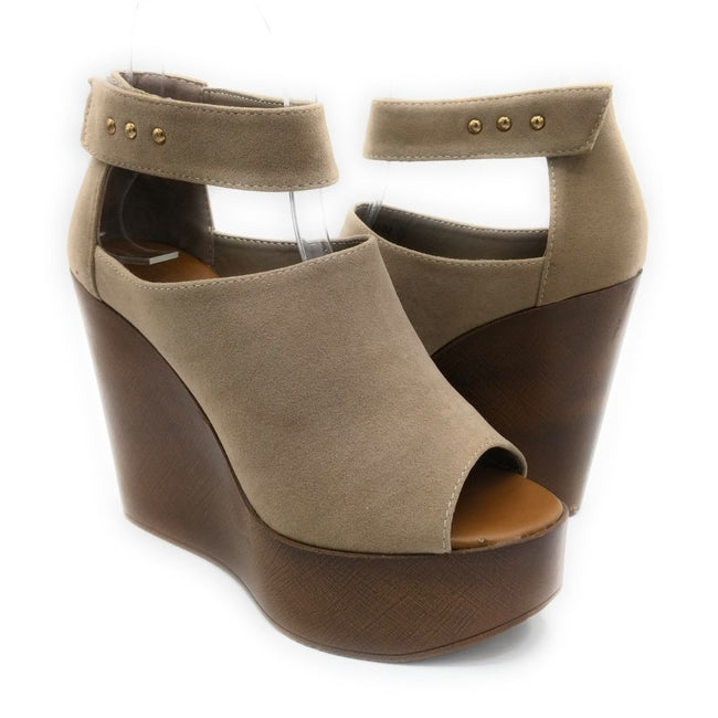 Refresh Vicki-02 Taupe Color Wedge Shoes for Women