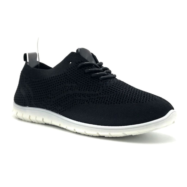 Refresh Walking-01 Black Color Fashion Sneaker Shoes for Women