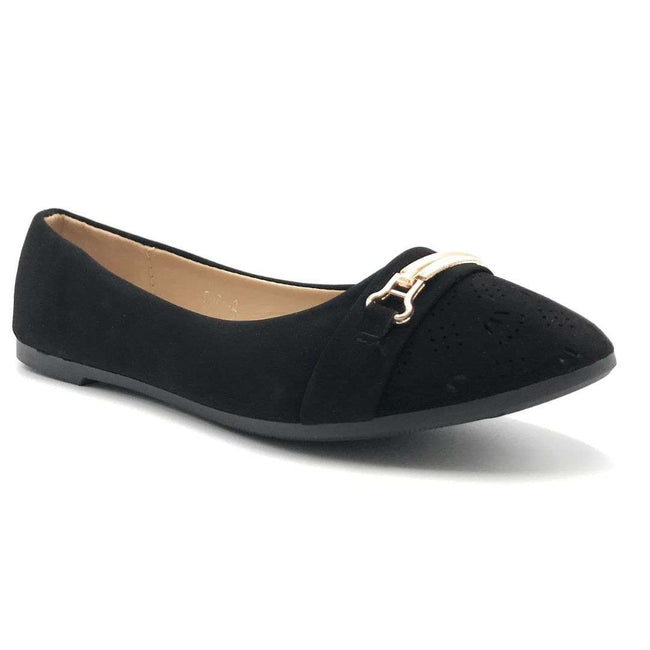 SBUP F07-12 Black Color Ballerina Shoes for Women