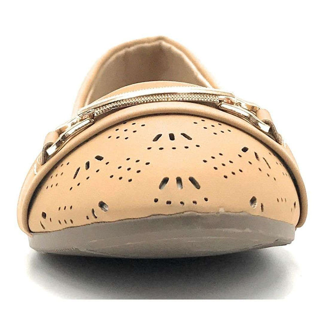SBUP F07-12 Camel Color Ballerina Shoes for Women