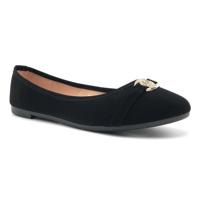 SBUP F07-207 Black Color Ballerina Shoes for Women