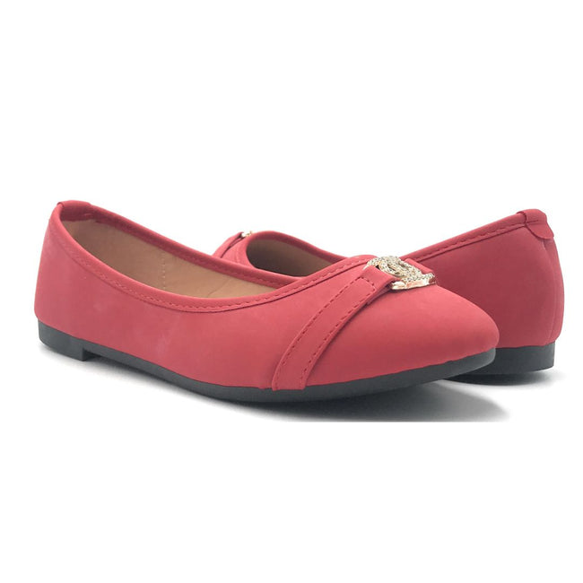 SBUP F07-207 Red Color Ballerina Shoes for Women