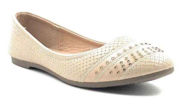 SBUP F07-210 Beige Color Ballerina Shoes for Women
